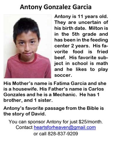 Antony Gonzalez Garcia J